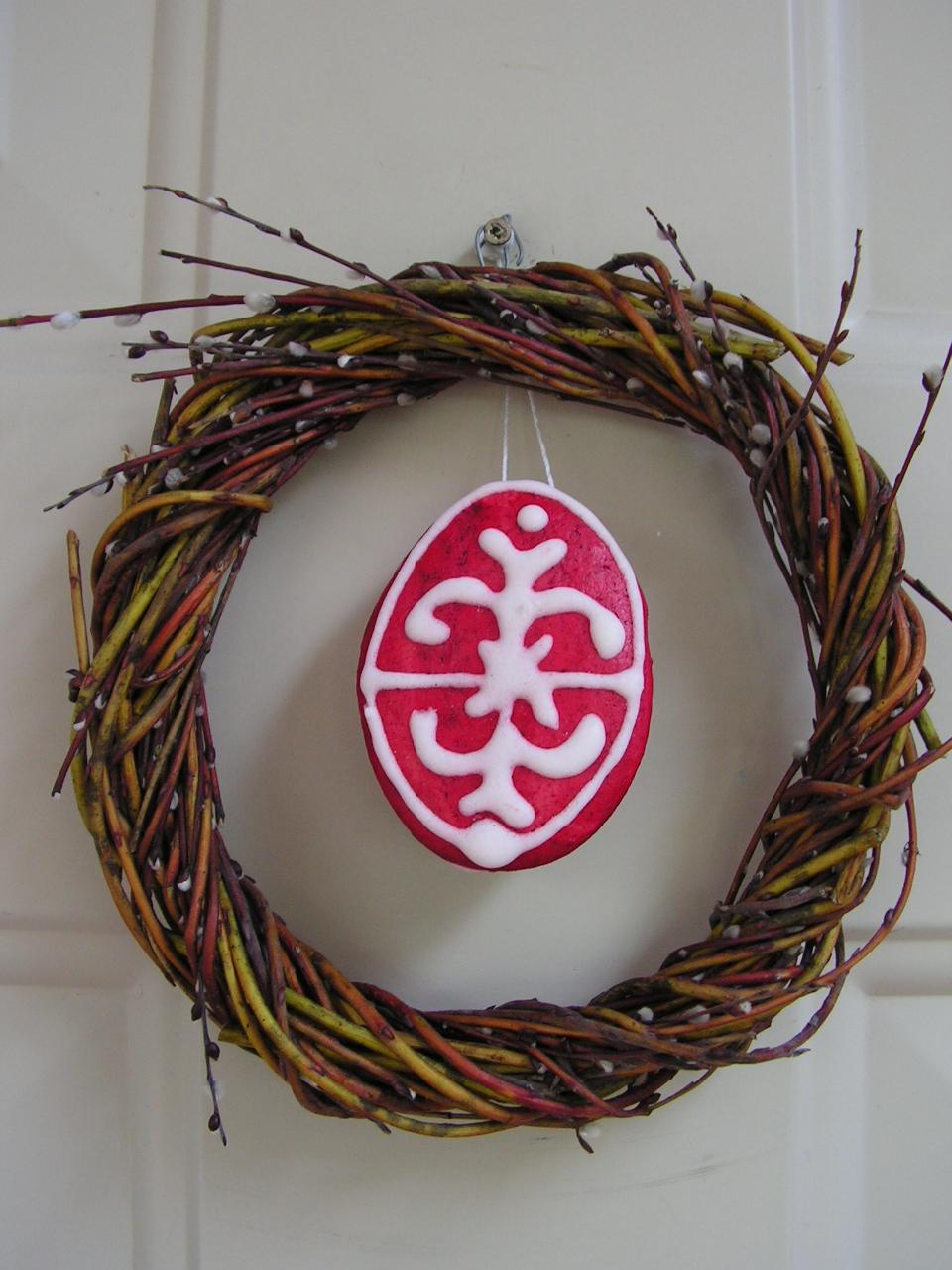Húsvéti mézeskalács ajtókopogtatónak