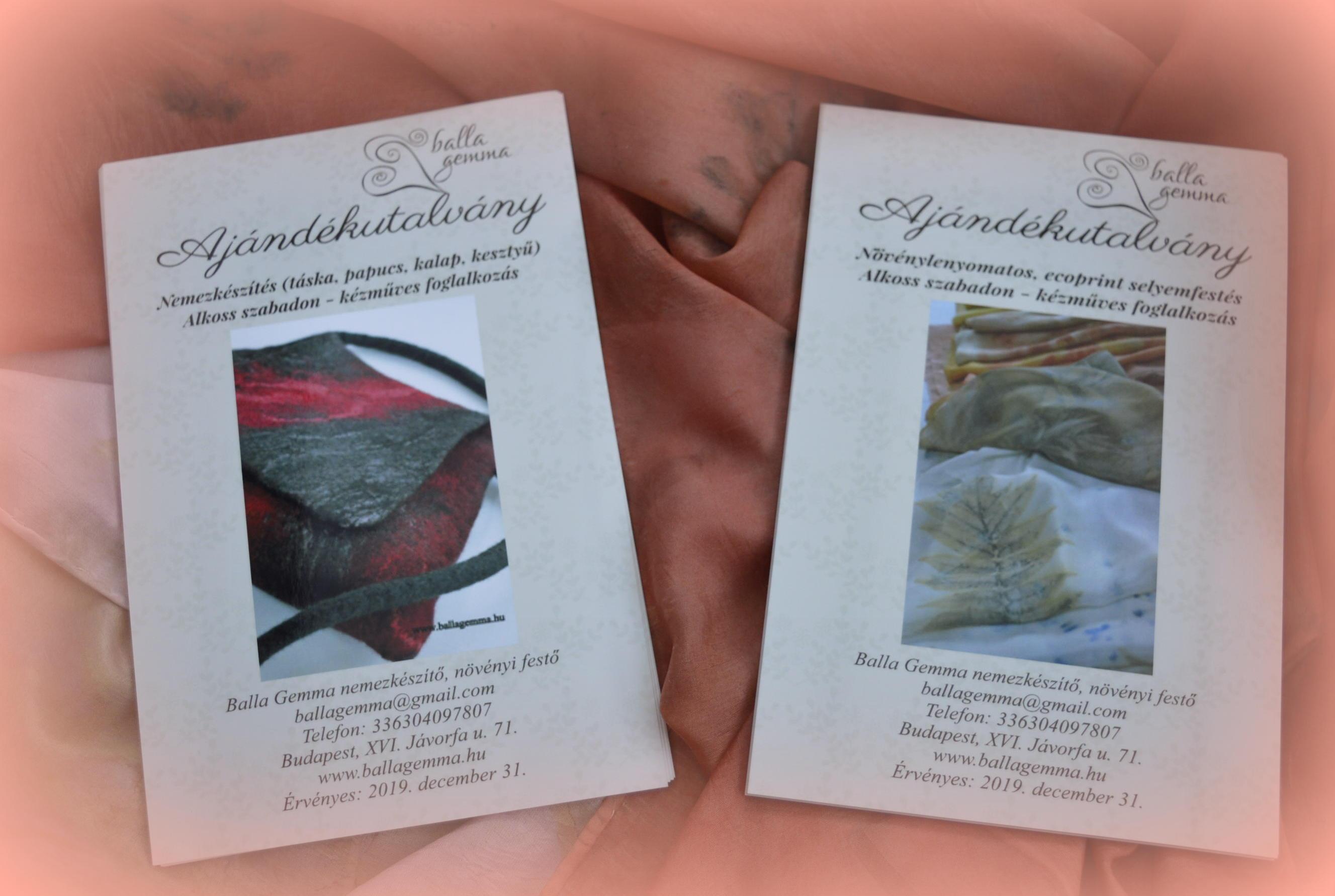 Ajándékutalvány kézműves foglalkozásra